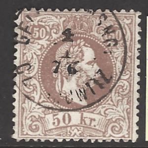 Austria SG AH 57, Brownish Rose Shade, fine used stamp