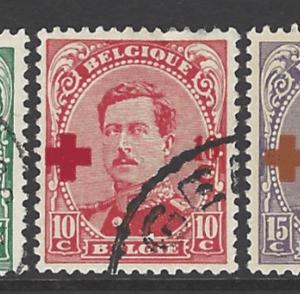 Belgium SG 222-228, fine used stamps
