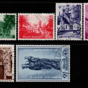 Belgium SG 1534-9, the 1954 Beguinage of Bruges Restoration Fund set, fine used.