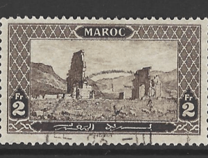 French Morocco.  SG 90, the 1917 Volubilis 2 francs, fine used.