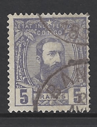 Belgian Congo SG 12, the 1887 King Leopold II 5f violet, fine used.