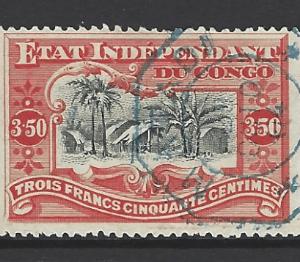 Belgian Congo SG 28, the 1898 Congo Village 3f50, fine used.