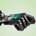 Robot hand with car key