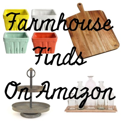 12 Fun Farmhouse Finds on Amazon!