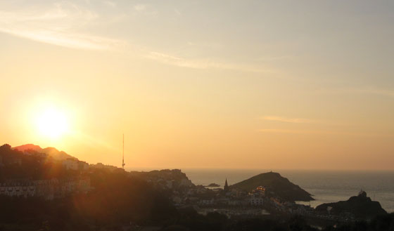 Breathtaking September sunset in Ilfracombe, Devon