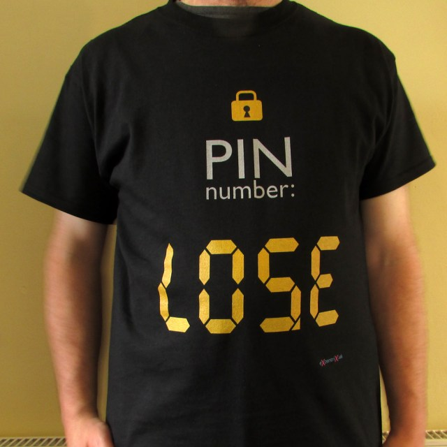 PIN number T-shirt | eXcentrix | robzlog.co.uk @robertz