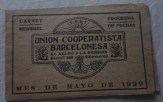 Carnet mensual de la Unió Cooperatista Barcelonesa. Arxiu Històric FRG