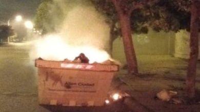 El vandalismo no para: en tres días, prendieron fuego dos veces contenedores con residuos