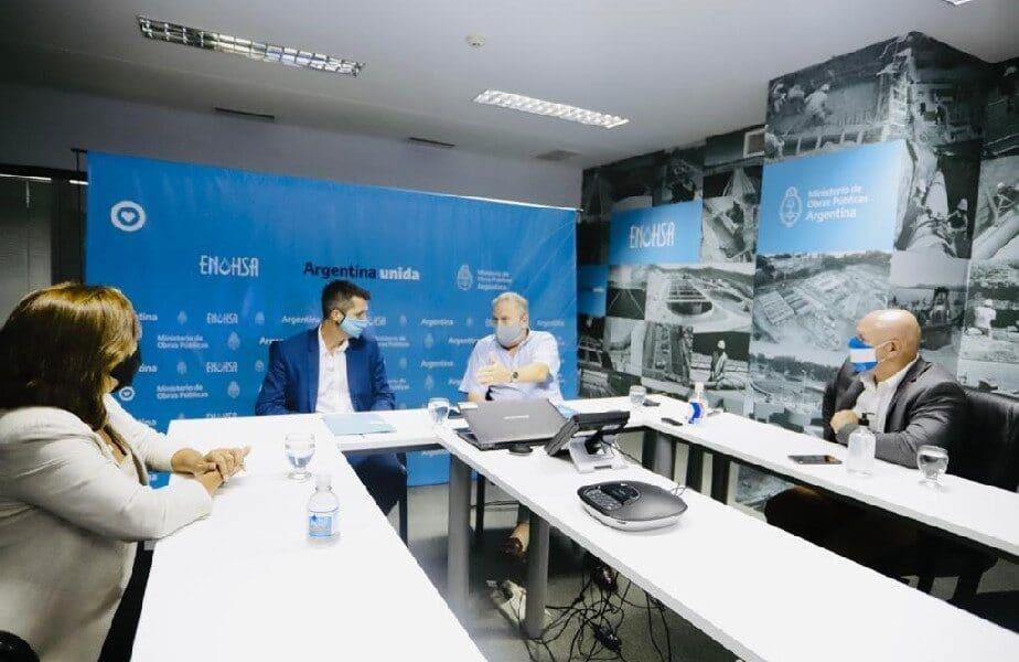 Ante Nación, Carreras gestionó la pronta licitación de obras de agua en Roca