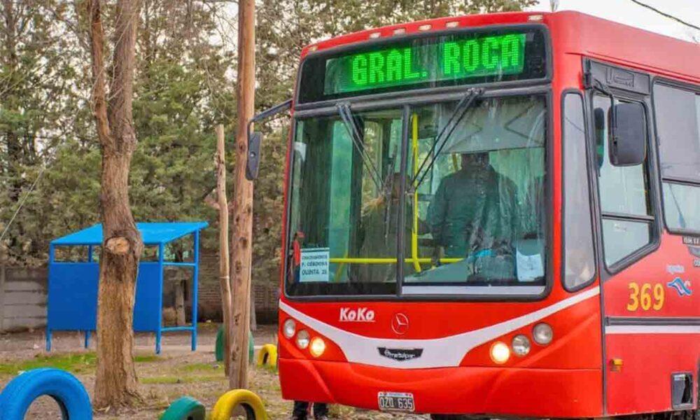 Estudiantes de Roca tendrán el transporte gratis durante todo marzo