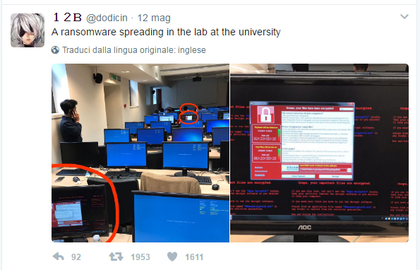 WCry, WannaCry, WanaCrypt0r, attacco hacker, ransomware,