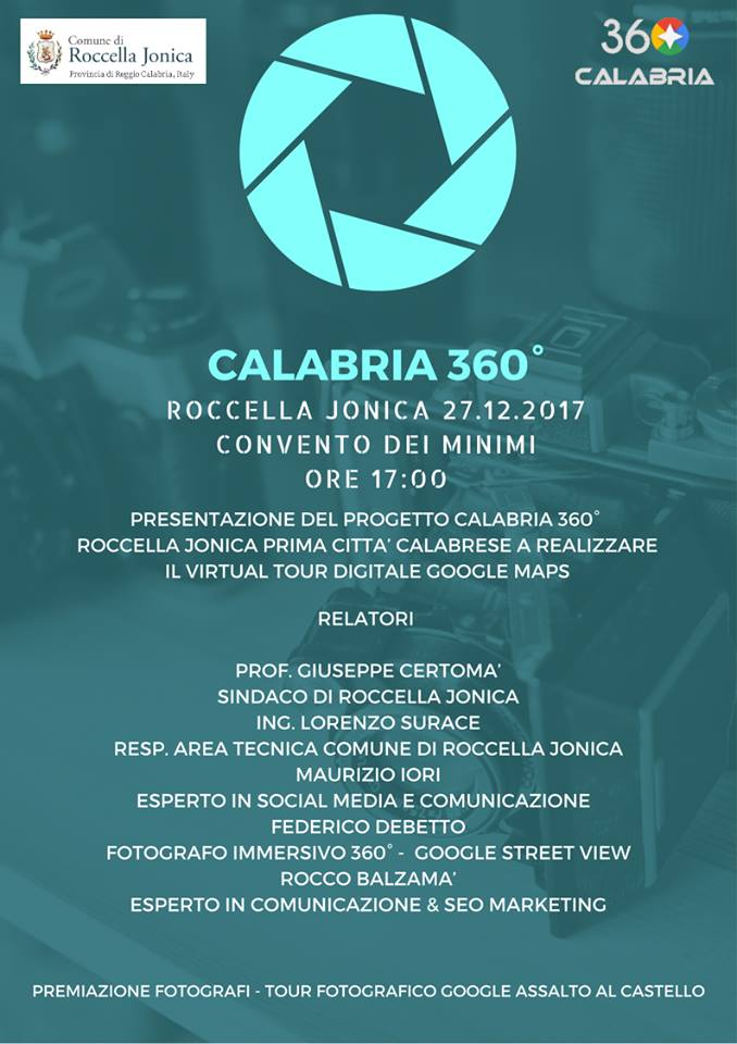 Progetto Calabria 360, Roccella Jonica, Virtual Tour, Google Maps,