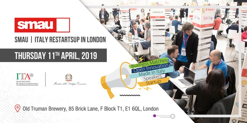 SMAU | Italy RestartsUp in London - Meet the Made in Italy Innovation 107