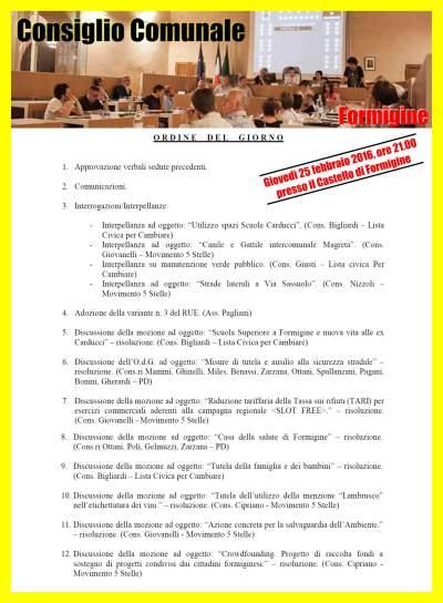 CONSIGLIO COMUNALE FORMIGINE
