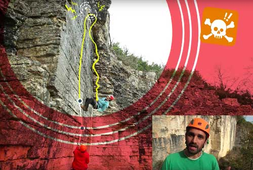 SPORT climbing | How to safely come back-off a too hard route