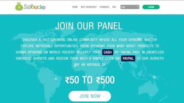 Make money online by Saybucks