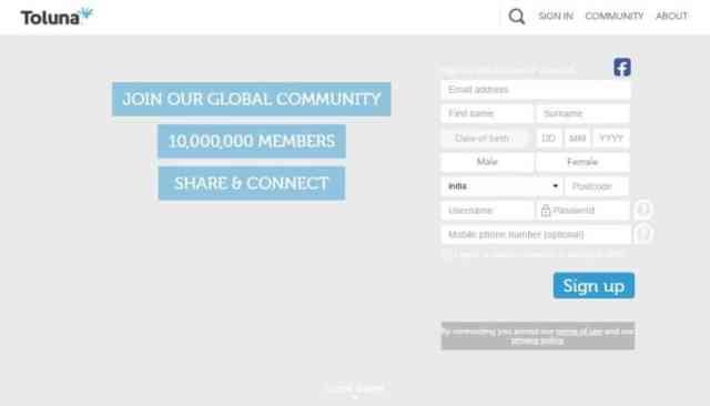Make money online by Toluna