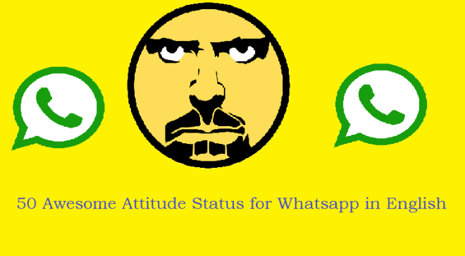 50 Attitude status in English for Whats app - RochakSite