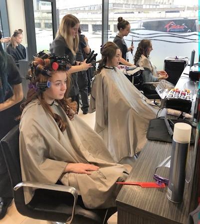 Pupils from Middleton Technology School at Riverside Salon
