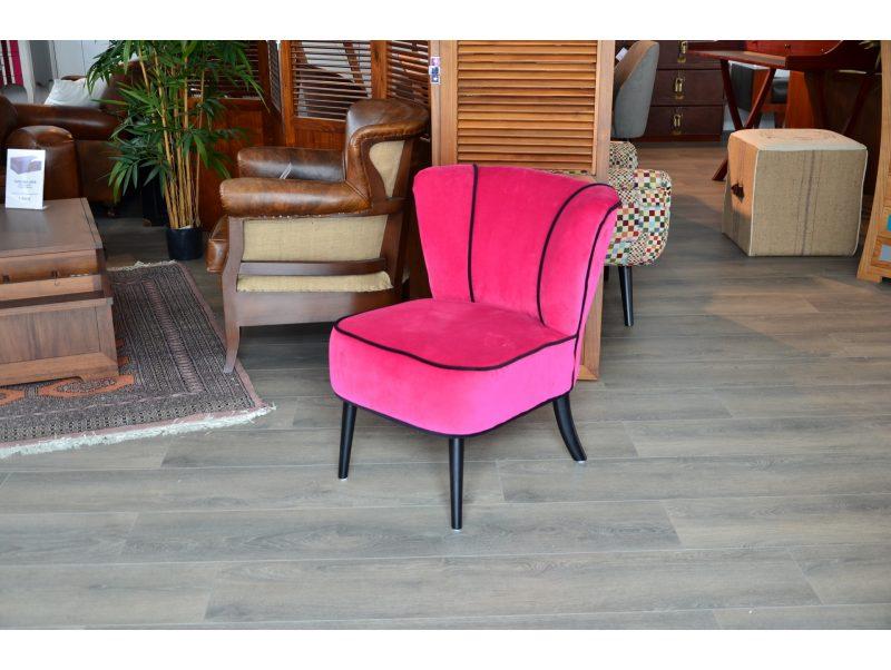 fauteuil tissu cocktail rose fushia