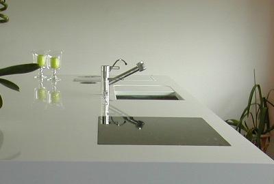 plan de travail en composite quartz