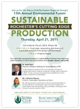 13th Annual Environmental Forum, Sustainable Production: Rochester's Cutting Edge