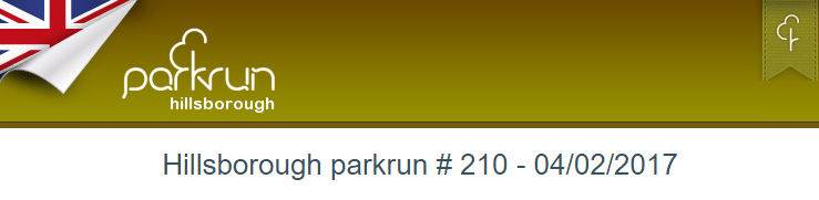 Hillsborough Parkrun 04/02/2017