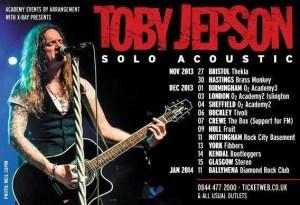 Toby Jepson TOur Dates 2013