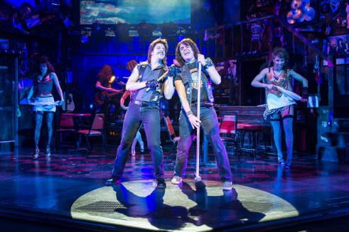 Chris Southgate (Lonny) and Noel Sullivan (Drew) in Rock of Ages The Musical UK Tour Credit Manuel Harlan