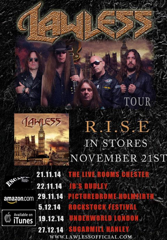 Lawless RISE tour