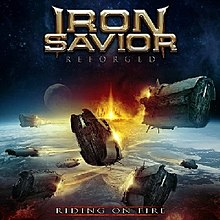 Iron Savior - Reforged riding on fire