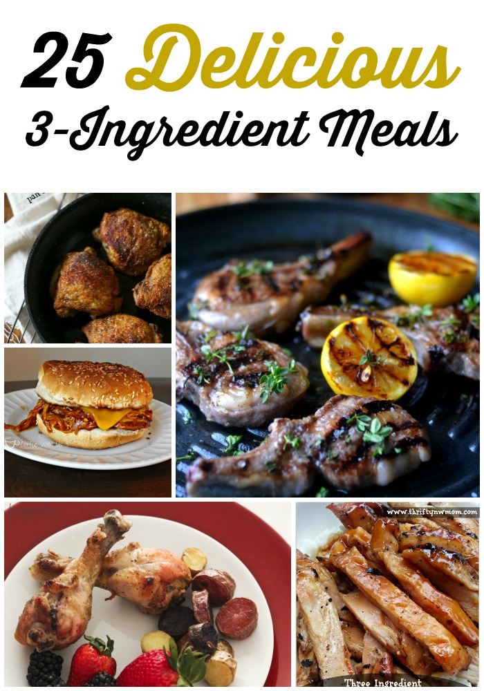 3 ingredient meal recipes rock and drool