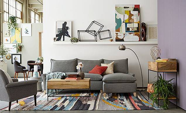 West Elm Inspired Living Room For Less