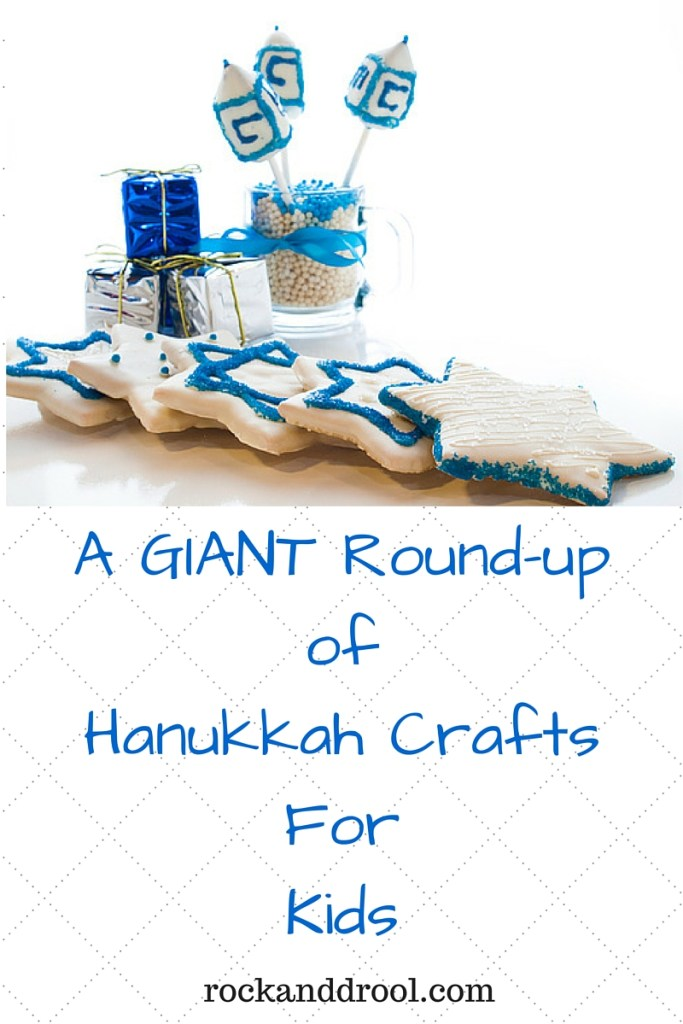 A Giant Round up of Hanukkah Crafts for kids rock and drool
