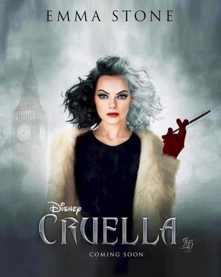 Cruella de Vil: el nuevo poster donde sale la actriz llama la atención