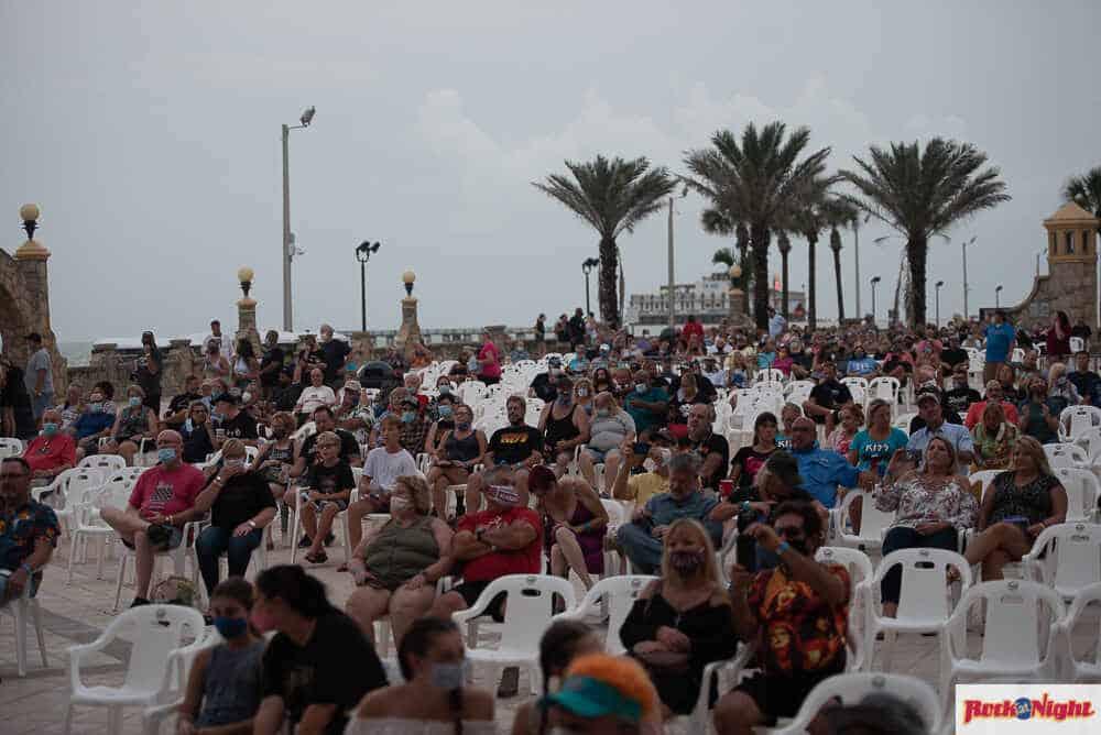 The audience at the Daytona Bandshell