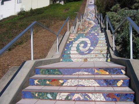 16th Street Tiled Steps Project