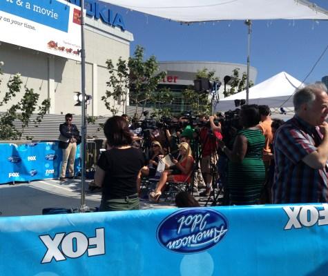 American Idol Press Conference Area