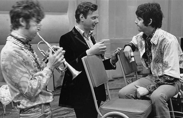 John Lennon, Brian Epstein, & Paul McCartney