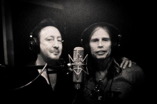Julian and Tyler in the studio.