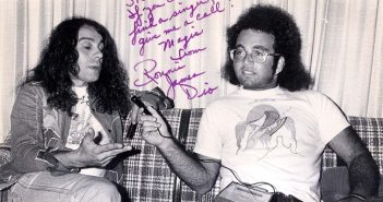 Ronnie James Dio and Steve Rosen (Photo: Fin Costello)