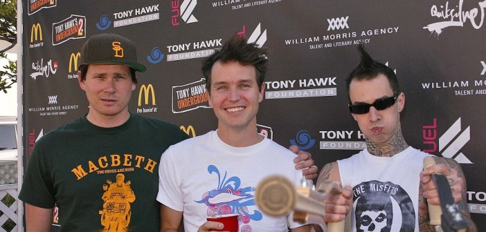 Blink-182 (Tom DeLonge, Mark Hoppus, Travis Barker)