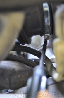 loosen the airbox hose clamp