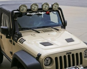 Rugged Ridge Performance Vented Hood - Installed