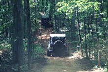 Rugged Ridge Jeeps on Off-Road Trail