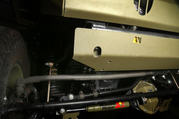 Rugged Ridge Jeep JK Inverted Drag Link - installed (High Res)