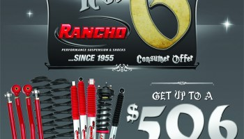 New Rancho® Promotion Offers Up to $400 Mail-In Rebate for