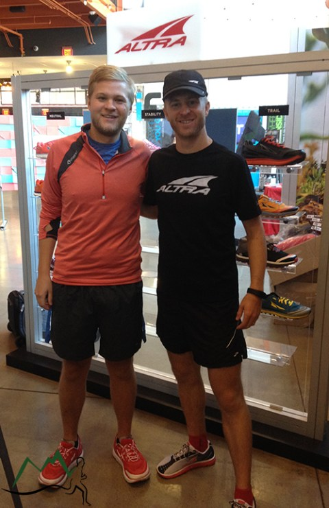 With one of Altra's founders, Brian Beckstead