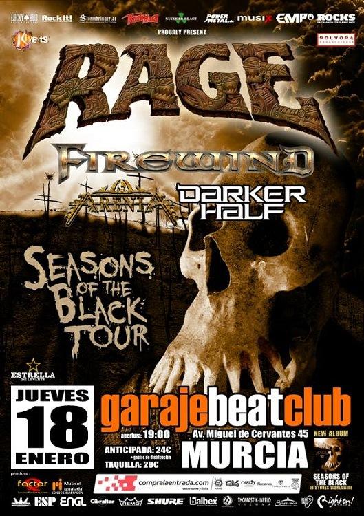 La gira de Rage y Firewind llega a Murcia