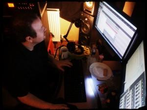 James Scott in studio